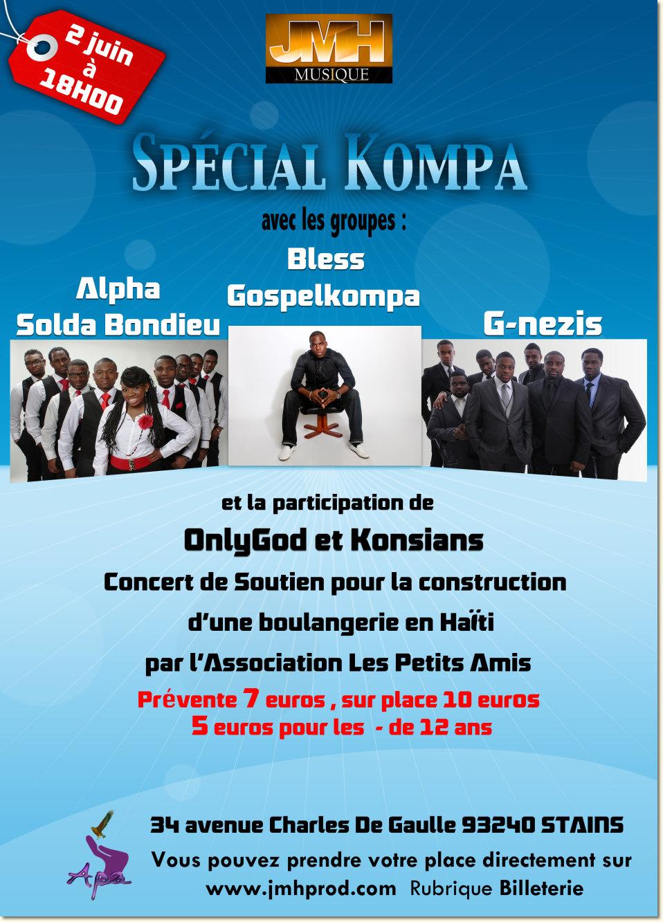 Le samedi 2 juin 2012 dès 14h, venez nombreux au concert multiple de Stains (93) !